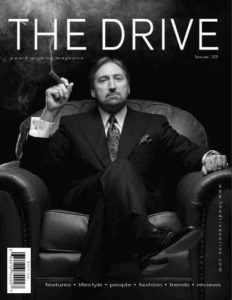 Patrick Ducharme, on the cover of The Drive Magazine