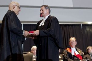 Patrick Ducharme and Harvey Strosberg. Photo credit: Law Society Gazette